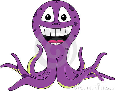 Smiling octopus