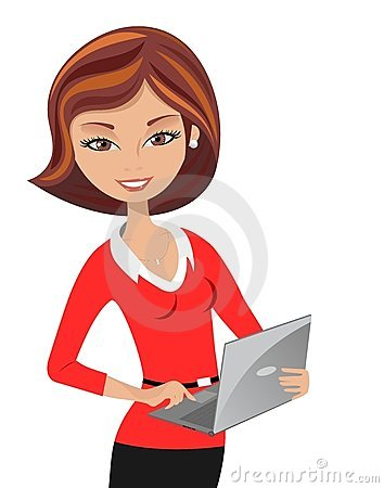 Free Smiling Office Woman Laptop Royalty Free Stock Photo - 23737765
