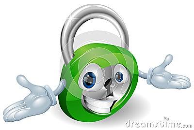 Smiling padlock character