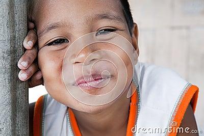 Smiling Philippine boy