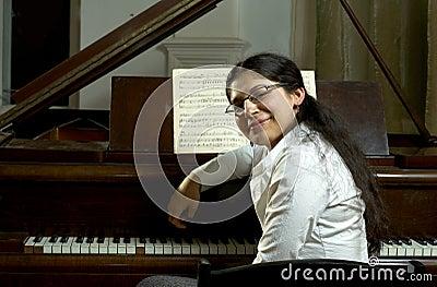 Smiling Piano Teacher