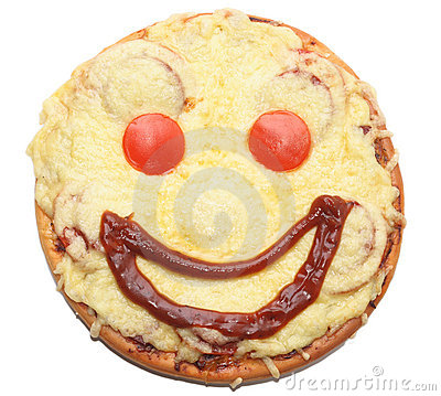 Smiling Pizza Holding A Sign Stock Photo | Getty Images