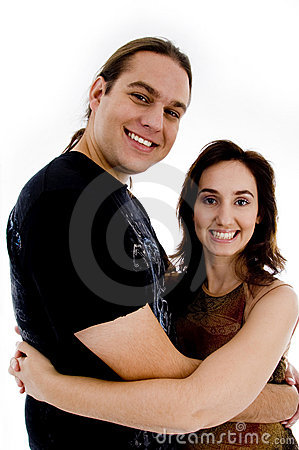 Smiling playful young couple