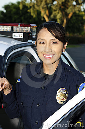 Smiling police officer