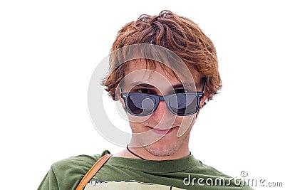 Smiling positive guy