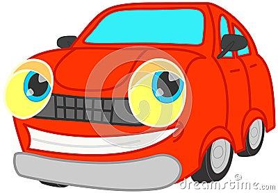 Smiling red car