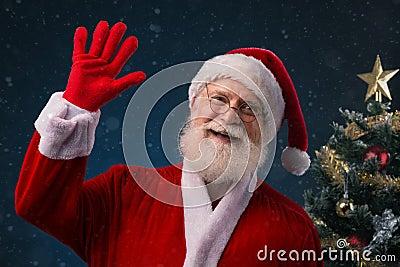 Smiling Santa Claus Stock Photo - Image: 46422336