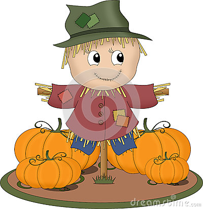 Free Smiling Scarecrow Stock Photography - 25296522