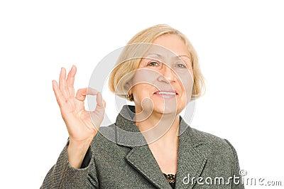 Smiling senior business woman