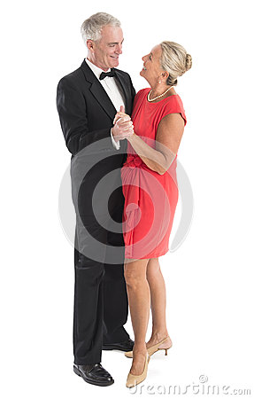 Smiling Senior Couple Dancing