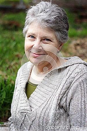 Free Smiling Senior Lady Stock Photos - 24300163