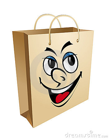 Smiling shopping bag