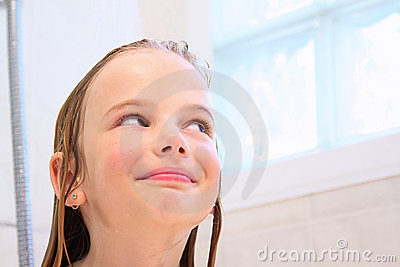 Smiling in the shower