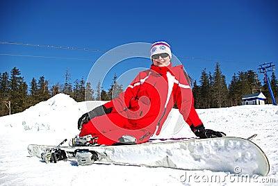 Smiling skier