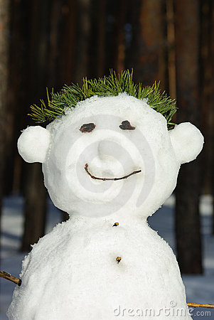The smiling snowman
