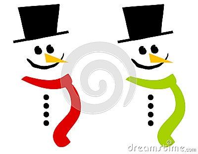 Smiling Snowman Clip Art 3