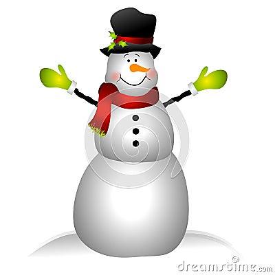 Snowman Clipart Border