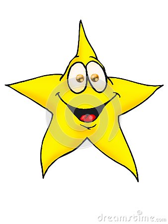 Smiling Star isolated