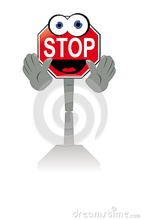 Smiling stop sign