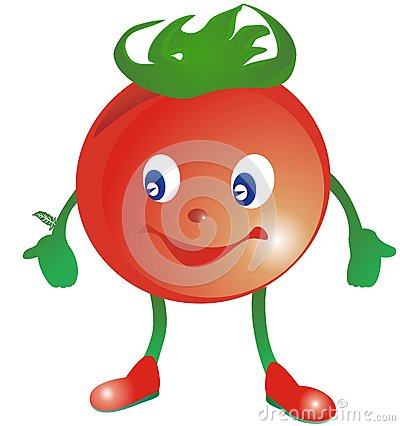Smiling Stylized Tomato In Red Boots Stock Photos - Image: 14893953