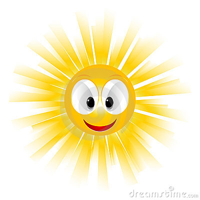 Smiling Sun Icon Stock Photo - Image: 18982010