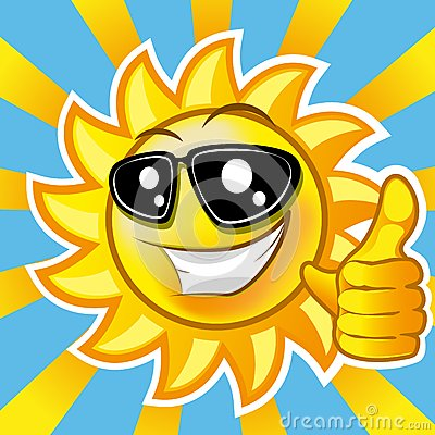 Smiling Sun Showing Thumb Up Illustration Clip Art Gradient Mash