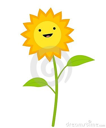 Smiling Sunflower Clip Art