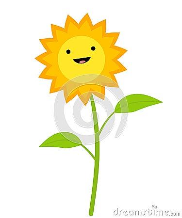 Cute Sunflower Clip Art
