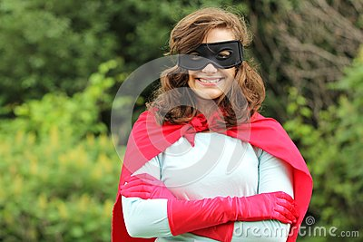 Smiling Super Hero Girl Stock Photo - Image: 25971020
