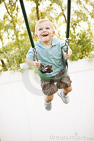 Smiling on a Swing