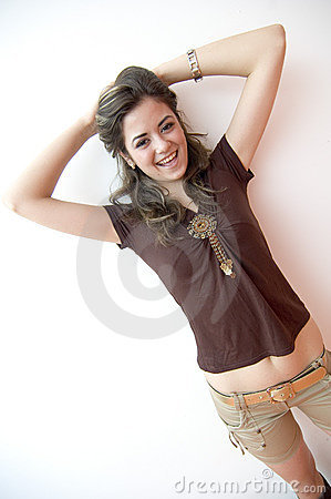 Smiling Teen Angled