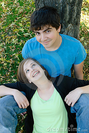 Smiling Teen Couple