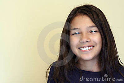 Smiling Teen Hispanic Girl