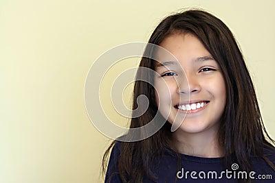 Smiling Teen Hispanic Girl