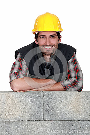Free Smiling Tradesman Royalty Free Stock Image - 30595416