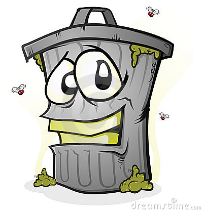 Smiling Trash Can