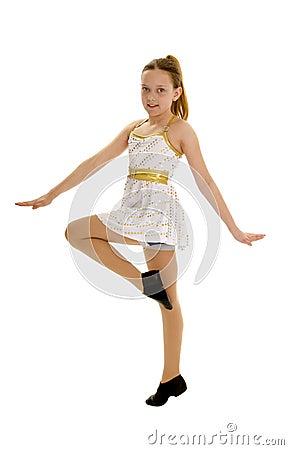 Smiling Tween Jazz Dancer