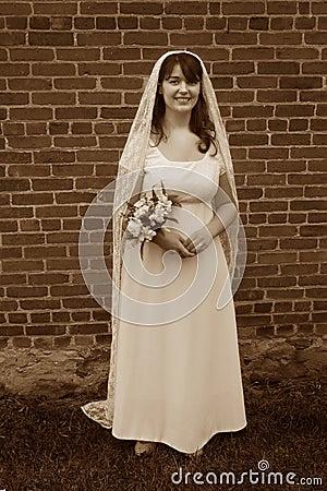 Smiling Vintage Bride