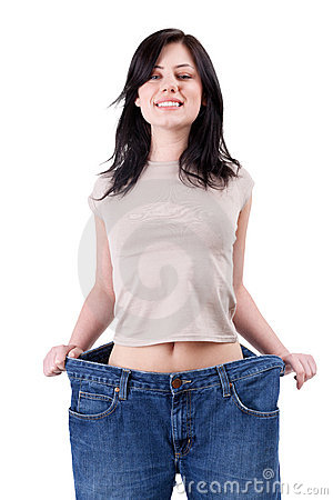 Smiling weight loss woman