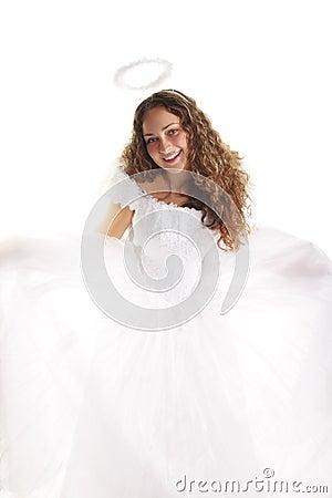 Smiling white angel