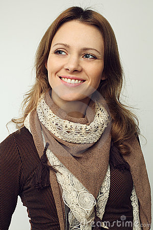 Smiling woman - beautiful face