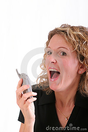 Free Smiling Woman On Cell Phone Royalty Free Stock Images - 1299989