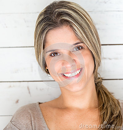 Smiling woman portrait