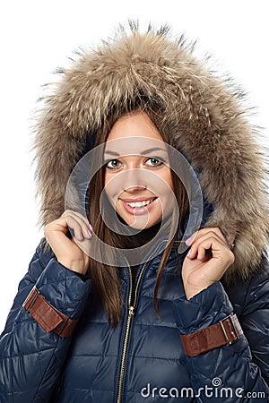 Woman in winter coat