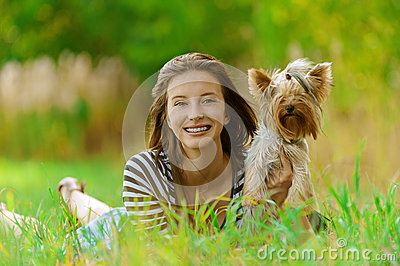 Smiling woman with Yorkshire
