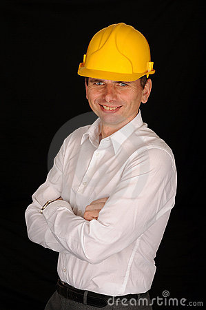 Smiling workman