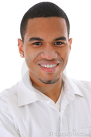 Smiling Young African American Male Headshot