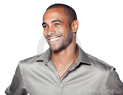 Smiling young black man