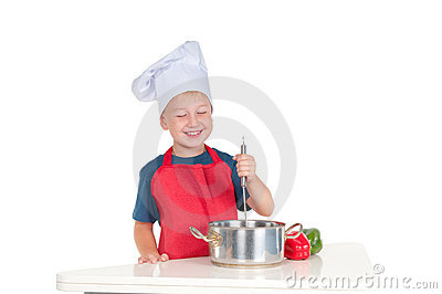 Smiling young cook