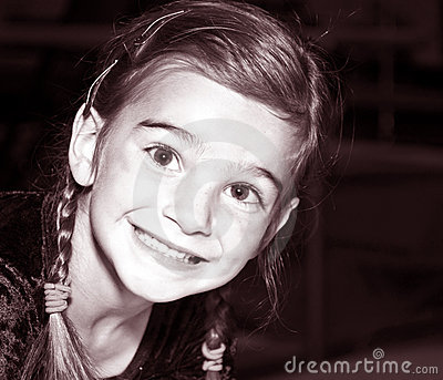 Smiling Young Girl / Tinted